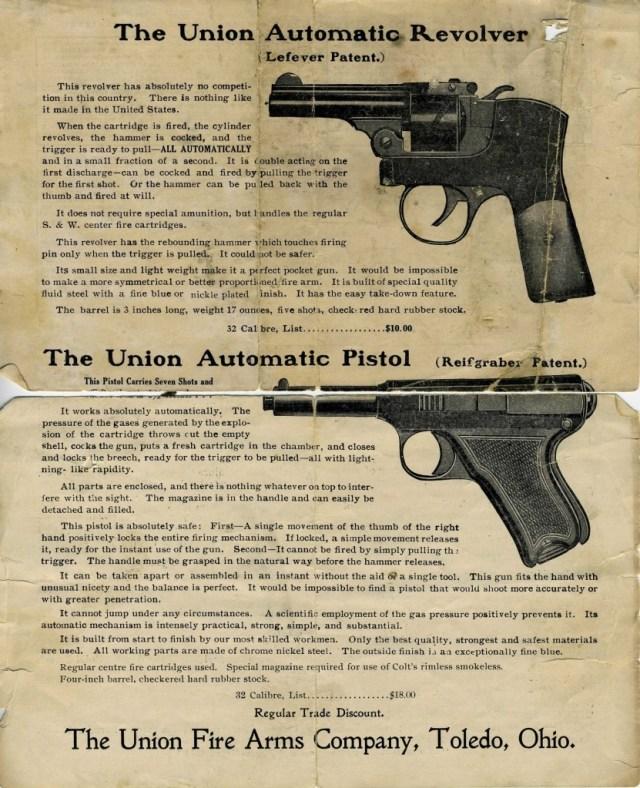 Union Firearms Company catalog