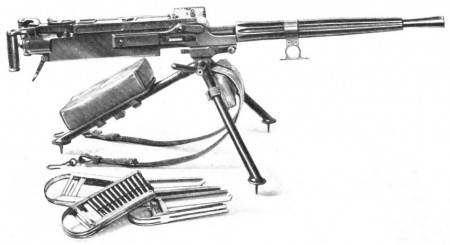 FIAT Model 1924 machine gun on infantry tripod
