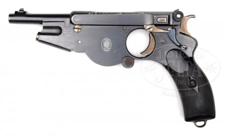 Bergmann No.2 pistol sold by Westley Richards Co.