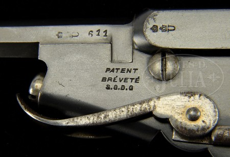 Bergmann No.2 pistol in 5mm Bergmann, with folding trigger