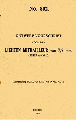 Bren MkI manual (Dutch,1943)