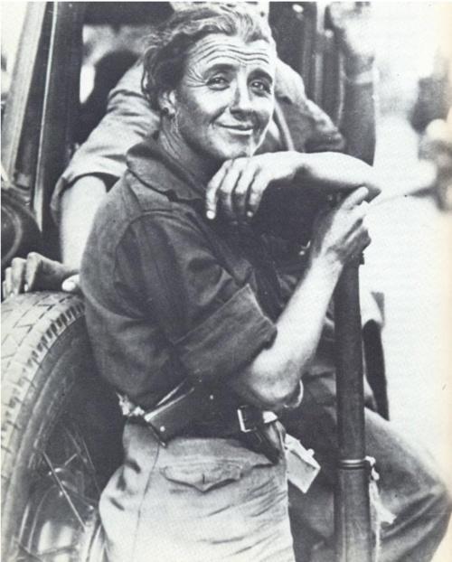 Spanish militiawoman with pistol