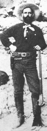 Jesse James with a Burgess patent 1881 Marlin rifle