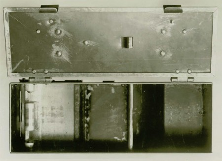 Browning 1919 experimental belt box - top, open