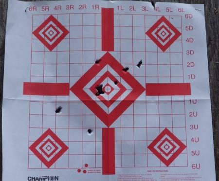 Colt 1903 Pocket Hammer test target