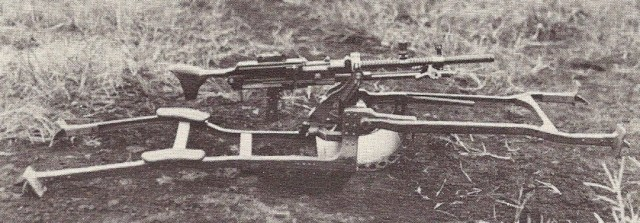 March 1940 first trials model of the Japanese Type 1 HMG