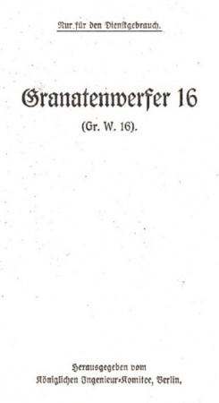 Granatenwerfer 16 manual (German)
