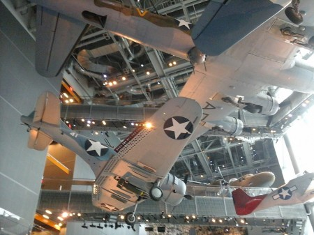 WWII aircraft on display at the National WWII Museum, New Orleans.