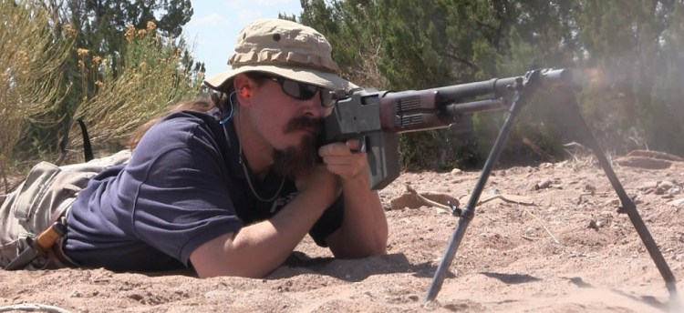 Ian shooting an M1918A3 Ohio Ordnance BAR