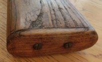 Wooden buttplate attached by two screws