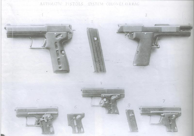 Krag experimental pistol