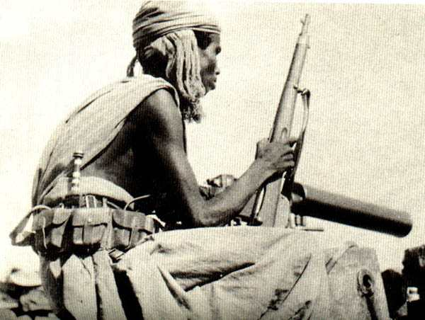 Somali tribesman in Italian military service, with an M95 carbine - November 1935 (photo from <a href=