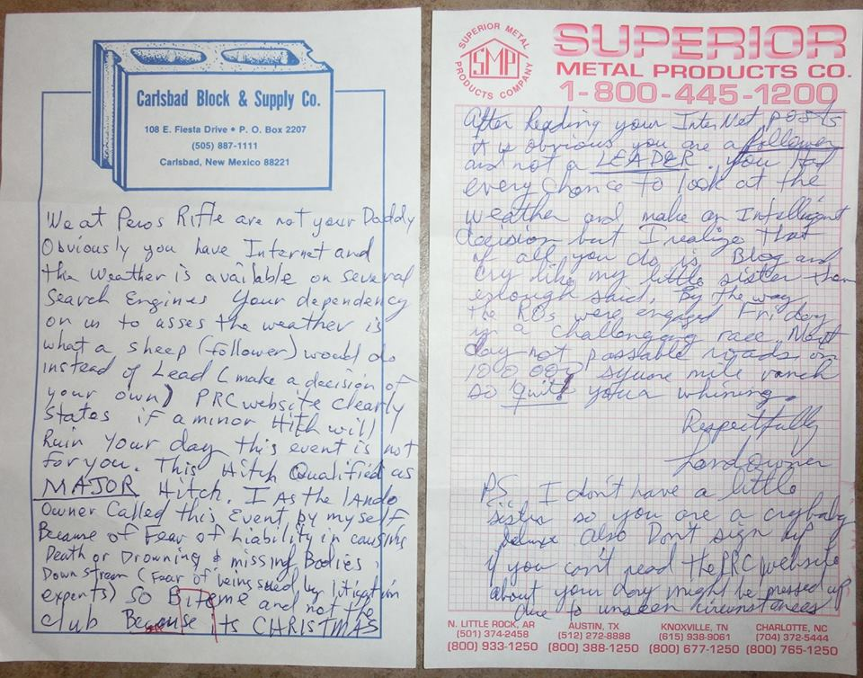Pecos Run-n-Gun letter