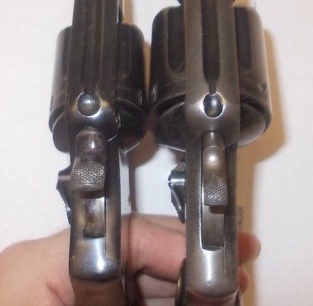 Hammers - Trocaola left and Hand Ejector right