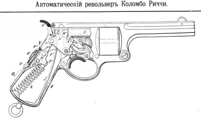 Colombo-Ricci automatic revolver schematic