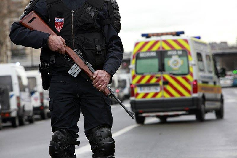 French police officer with a Mousqueton AMD (Mini-14)