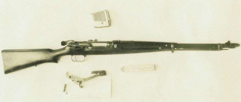 Heinemann/Rheinmetall 1928 rifle field stripped, Aberdeen photo