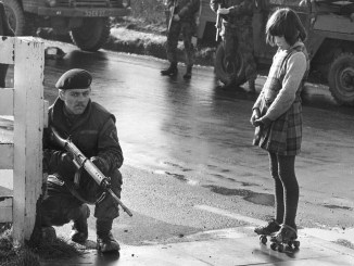 British Army patrol in Northern Ireland, circa 1971