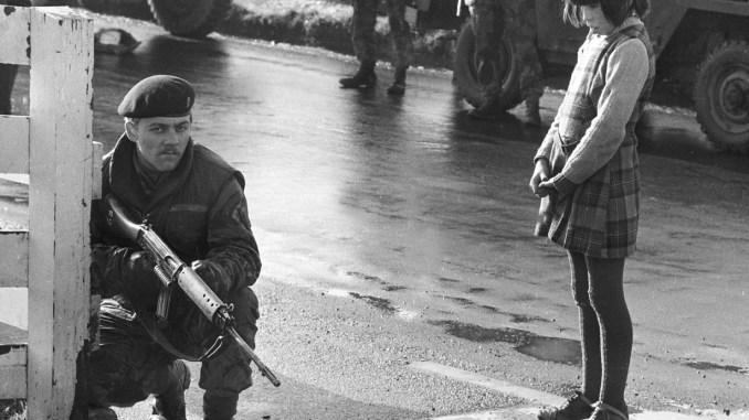 British Army patrol in Northern Ireland, circa 1971