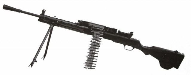 Belt-fed version (using Maxim belts)