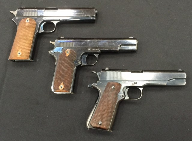 Colt 1909 (with a 1905 and 1911A1 for comparison)
