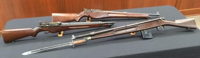 White prototype rifles