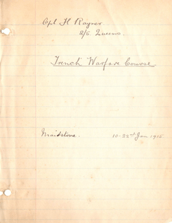 Trench Warfare Notes (English, 1915)