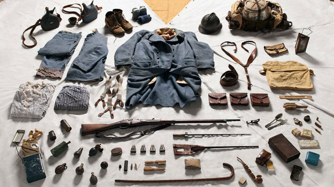 The kit of a French Private Soldier in the Battle of Verdun, 1916