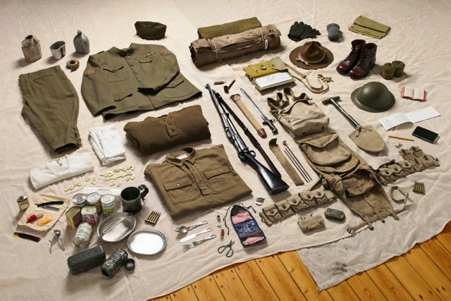 US Doughboy's gear, 1917