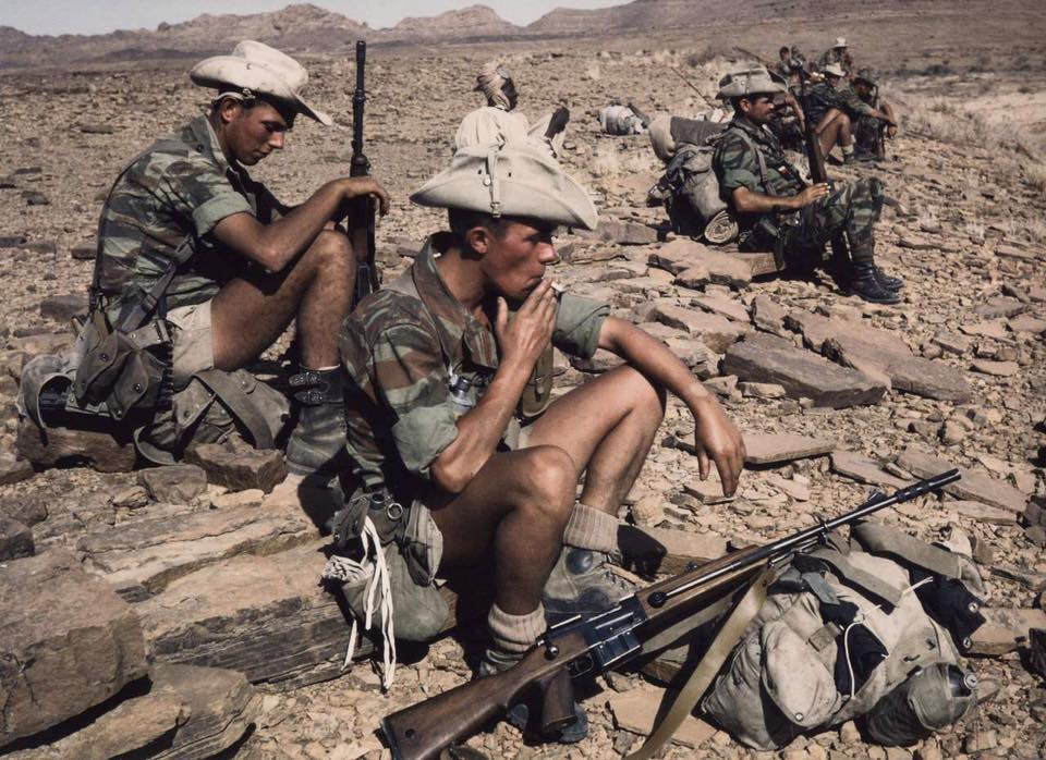 French soldiers in Chad in 1971