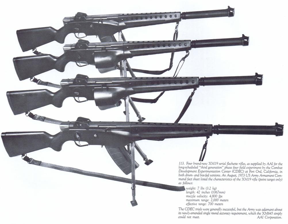 "Four XM-19 ""Rifles"""