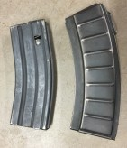 XM-19 magazine (right) with AR-15 magazine for scale