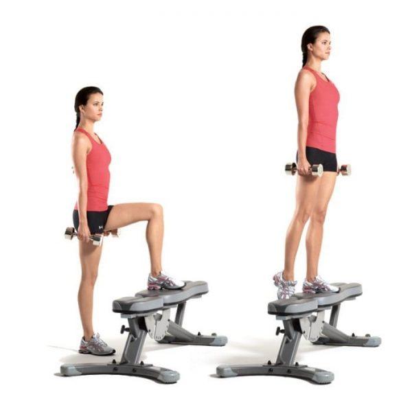 Brazilian-Butt-Workout-Dumbbell-Step-Ups