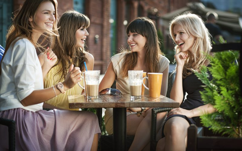 Four girls enjoying the meeting