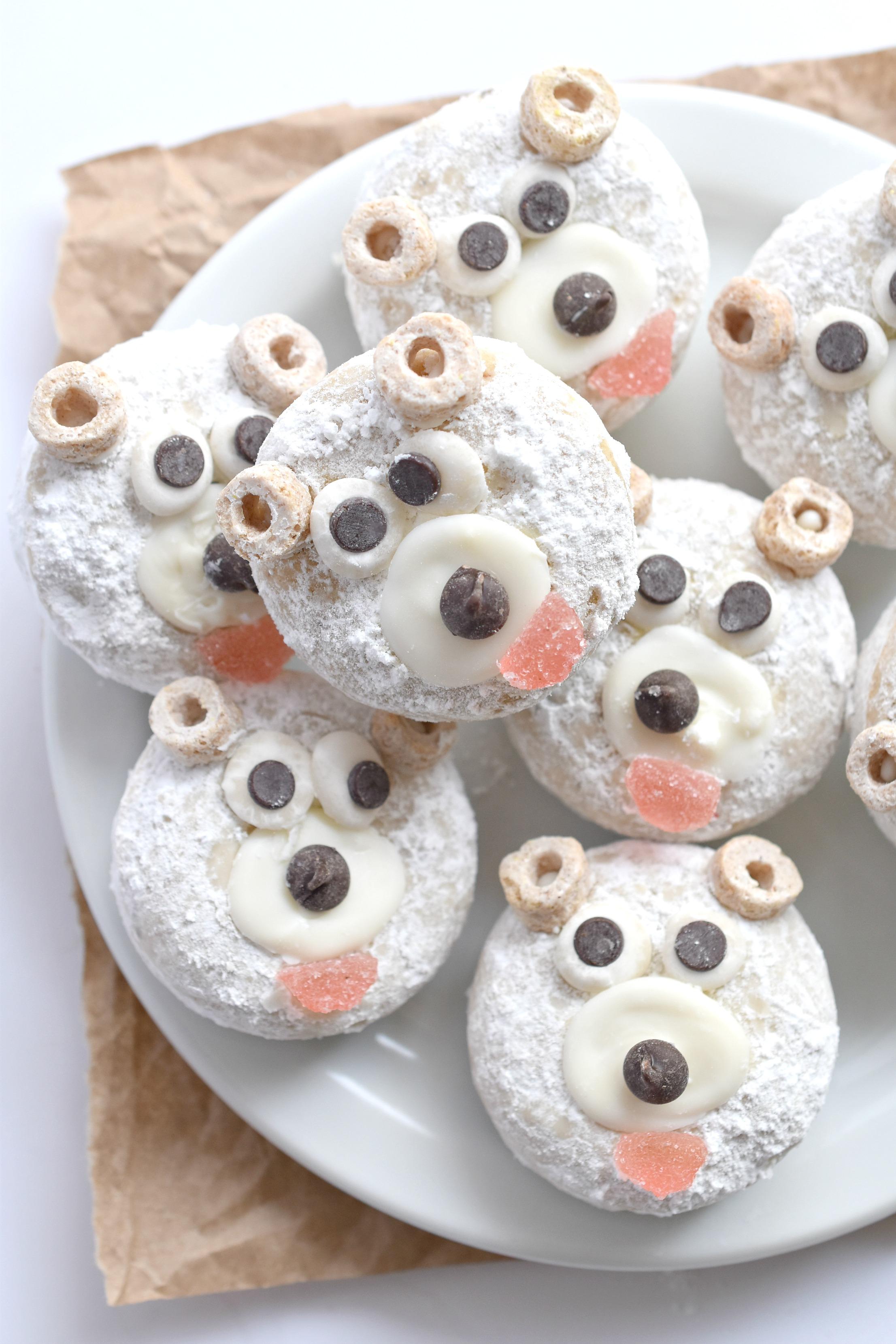 Polar Bear Mini Donuts Fork And Beans