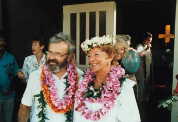 Rev. and Mrs. Miner on their wedding day