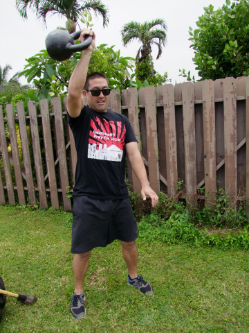 Using a kettle bell