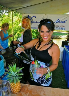 Best Wine Beverage award went to Nani Moon Mead. Janelle Lynn pours Winter Sun Sangria. Phoro by Danny Hashimoto