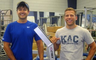 Kaua`i Athletic Club co-owners Scott McFarland, left, and Joshua Nations