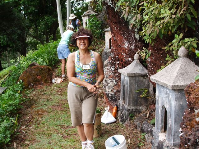 Cleaning up at Lawai International Center