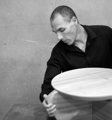 Lawrence O'Toole with the Lotus Table and Seat