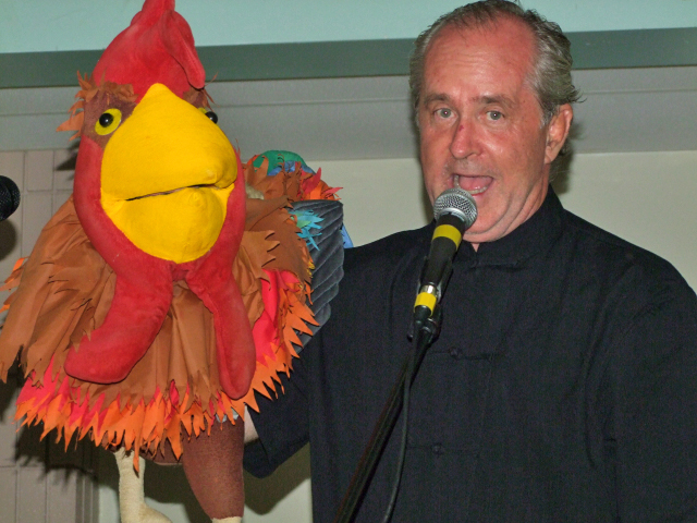 Russell da Rooster with Mark Jeffers