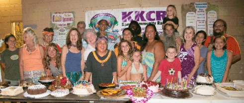 Many came bearing cakes for the birthday cake contest.