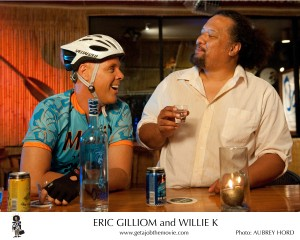 "Eric Gilliom and Willie K from a scene in ""Get a Job."""