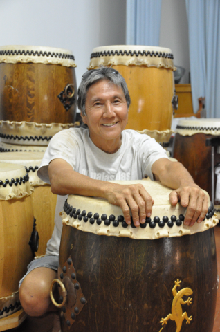 Ray Nitta with drums