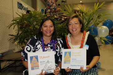 Charlene Navarro and Debbie Lindsey, Educator category recipients