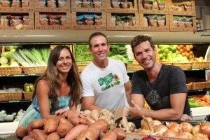 Business partners in health: Monique Dehne, Joseph Fiorilli and Scott Nemeroff consider their roles in management ones that include mentoring and education at their Kilauea market, Healthy Hut.