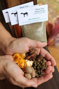 Star anise, peppercorn, nutmeg and dehydrated orange peel are among the seductive fragrances and flavors infusing spice blends made by Janine Lynne of Black Dog Farms in Princeville.