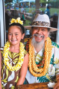 Aliana and Uncle Nathan at`Aha Hula 2010