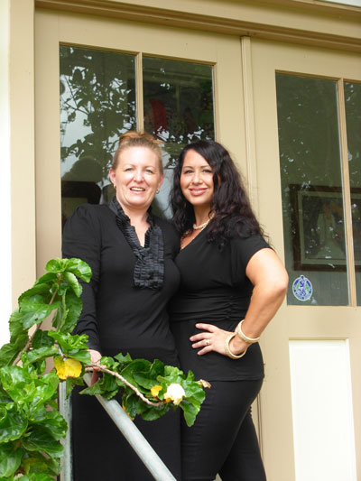 On right; partner of the Beauty Shop, Jody McCune with. Pakalana Leal Matsunaga on left. They invite you to come celebrate with them on November 2nd from 2:30 to 4:30 pm.